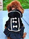 Dog / Cat Coat / Hoodie / Dress Black / Pink Winter Bowknot Wedding / Cosplay