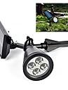 Solar Light Sensor 4-LED Spot Light Outdoor Lawn Landscape Path Way Garden Lamp