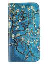 conception portefeuille motif fleur de prunier en cuir PU cas complete du corps de la magie avec support pour Samsung Galaxy J5 / J7