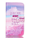 For Samsung Galaxy Case Wallet / Card Holder / with Stand / Flip Case Full Body Case Word / Phrase PU Leather Samsung Core Prime