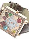 Uhr und weise diamante Luxusdamen quadratischen Zifferblatt