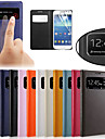 ursprungliga pu läder visa fönstret Smart Auto-sömn hela kroppen fallet för Samsung Galaxy S4 mini i9190 i9192 i9195