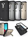 Pour Coque LG Antichoc Avec Support Coque Coque Intégrale Coque Armure Dur Métal pour LG LG G4