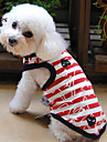 Dog / Cat Shirt / T-Shirt Red Summer Stripe Wedding / Cosplay