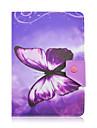 Teste padrao de borboleta de alta qualidade de couro pu com suporte para tablet caso universal de 7 polegadas