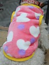 Gatos / Caes Camiseta Preto / Rosa Inverno Coracoes Casamento / Leopardo / Fantasias