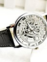 ZIQIAO Unisex Fashion Elegant Design Of Hollow Quartz PU Leather Strap Wrist Watch Cool Watch Unique Watch