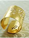 나비 패턴 (12)의 집합 장식 냅킨 링, 금속, 1.77inch,