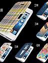 prachtige kleurrijke pu leer full body case voor de iPhone 4 / 4s (assorti kleur)