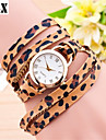 Women\'s Fashion  Simplicity  Quartz Analog  Sexy Leopard Wind Leather  Wrist Watch(Assorted Colors)
