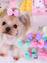 Cat / Dog Hair Accessories / Hair Bow Blue / Pink / Purple Dog Clothes Spring/Fall Wedding / Cosplay