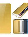 Назначение iPhone 8 Plus iPhone 6 iPhone 6 Plus Чехлы панели Покрытие Зеркальная поверхность Флип Чехол Кейс для Сплошной цвет Твердый