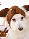 Cat / Dog Costume / Bandanas & Hats / Outfits Brown Winter Wedding / Cosplay / Halloween
