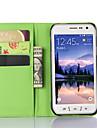Pour Samsung Galaxy Coque Avec Support Avec Ouverture Coque Coque Integrale Coque Couleur Pleine Cuir PU pour SamsungS6 Active S5 Mini S5