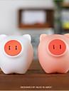 nuevo ahorro cerdo sensor llevado lampara de la mesita de luz controlada luz de la noche