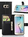 For Samsung Galaxy etui Med stativ Med vindue Etui Heldækkende Etui Helfarve Kunstlæder for SamsungS7 edge S7 S6 edge plus S6 edge S6 S5