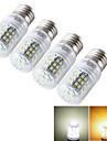 7W E14 / E26/E27 LED лампы типа Корн T 48 SMD 2835 600 lm Тёплый белый / Холодный белый Декоративная AC 85-265 / 9-30 V 4 шт.