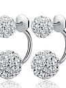 Earring Stud Earrings Jewelry Women Daily / Casual / Sports Sterling Silver / Alloy 2pcs White