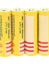 18650電池のBRC 5000mAに18650電池(4本)+ 4個/ロット硬質プラスチックのバッテリー収納ボックス