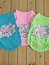 Cat / Dog Shirt / T-Shirt Green / Blue / Pink Summer Letter & Number Wedding / Cosplay