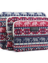 """Elephant Plaid Prints Laptop Cover Sleeves Shakeproof Case for iPad Samsung MacBook 12"""" ThinkPad Surface HP  Dell Acer"""