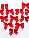 12 PCS DIY Christmas Tree Decor Red Bow Gift For Christmas Party