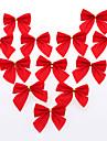 크리스마스 파티를 위해 12 개 DIY 크리스마스 트리 장식 빨간색 나비 선물