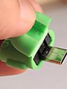robot vorm van micro-mini-USB-OTG-adapterkabel voor tablet pc mp3 / mp4 slimme telefoon (willekeurige kleur)
