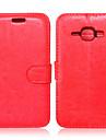 Para Samsung Galaxy Capinhas Porta-Cartao / Carteira / Com Suporte / Flip Capinha Corpo Inteiro Capinha Cor Unica Couro PU SamsungJ7 / J5