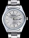 L.WEST Men's Steel Belt Of Waterproof Quartz Pointer Watch Cool Watch Unique Watch