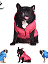 Dog / Cat Coat / Hoodie Red / Blue / Gray Winter Solid Cosplay