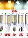1 stuks 无 E14 / G9 / GU10 / B22 / E26/E27 18W 102 SMD 2835 1650 LM Warm wit / Koel wit T Decoratief LED-maislampen AC 220-240 V