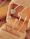 Diamond Double Love Alloy Bracelet Chain & Link Bracelets Daily / Casual 1pcinspirational bracelets Jewelry