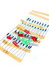 50шт 1k 10k 100k 220 Ом 1 / 4W металлической пленки резистор и привел набор для Raspberry Pi / Arduino
