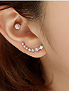 Stud Earrings Rhinestone Simulated Diamond Alloy Fashion Star Silver Golden Jewelry Wedding Party Daily Casual 2pcs