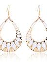 European Style Fashion Waterdrop Shape Enamel Triangle Earrings