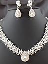 Femme Set de Bijoux Mode bijoux de fantaisie Imitation Diamant Goutte Boucles d\'oreille Collier Pour Soiree Occasion speciale Anniversaire