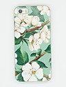 Pour Coque iPhone 5 Motif Coque Coque Arriere Coque Fleur Flexible PUT pour iPhone 7 Plus iPhone 7 iPhone SE/5s/5