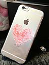 rosa coracoes padrao TPU telefone casca mole transparente caso de volta caso cobertura para iphone6 mais