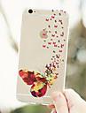 maycari® velley perhosia läpinäkyvä pehmeä TPU takakannen iPhone 6 plus