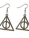 Drop Earrings Dangle Earrings Alloy Triangle Shape Silver Brown Jewelry For Daily 2pcs
