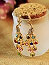 Drop Earrings Crystal Rhinestone Alloy Peacock Jewelry Daily Casual 1 pair