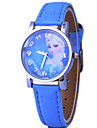 Children's Frozen Elsa And Anna Pattern Dial PU Band Quartz Cute Cartoon Wrist Watch Cool Watches Unique Watches