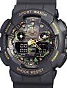 Hommes Bracelet Montre Numerique LCD / Calendrier / Etanche / Gravure ajouree / Double Fuseaux Horaires / penggera / Montre de Sport PU