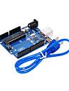 UNO R3 для Arduino (нейтральный) Совет по развитию, однокристальный микрокомпьютер с USB-кабель