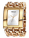 WEIQIN® Women\'s Square Dial Bangle Watches Ladies Gold Silver Chain Bracelet Watches Quartz Wristwatch Cool Watches Unique Watches