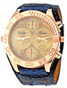 Unisex Vintage Map Pattern Wide PU Band Quartz Watch Cool Watch Unique Watch