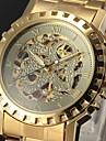 Men's Watch Auto-Mechanical Skeleton Hollow Engraving Golden Watch Cool Watch Unique Watch
