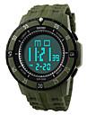 Erkek Bilek Saati Dijital LED / Takvim / Kronograf / Su Resisdansı / alarm / Spor Saat PU Bant Siyah Marka-