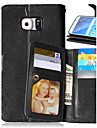 삼성 갤럭시 S4 / S5 / S6 / S6 가장자리 / S6 에지에 대한 고급 PU 가죽 플립 커버 (9) 카드 홀더 지갑 케이스 플러스
